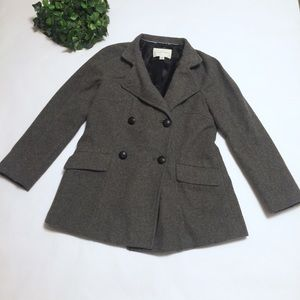 BANANA REPUBLIC gray pea coat